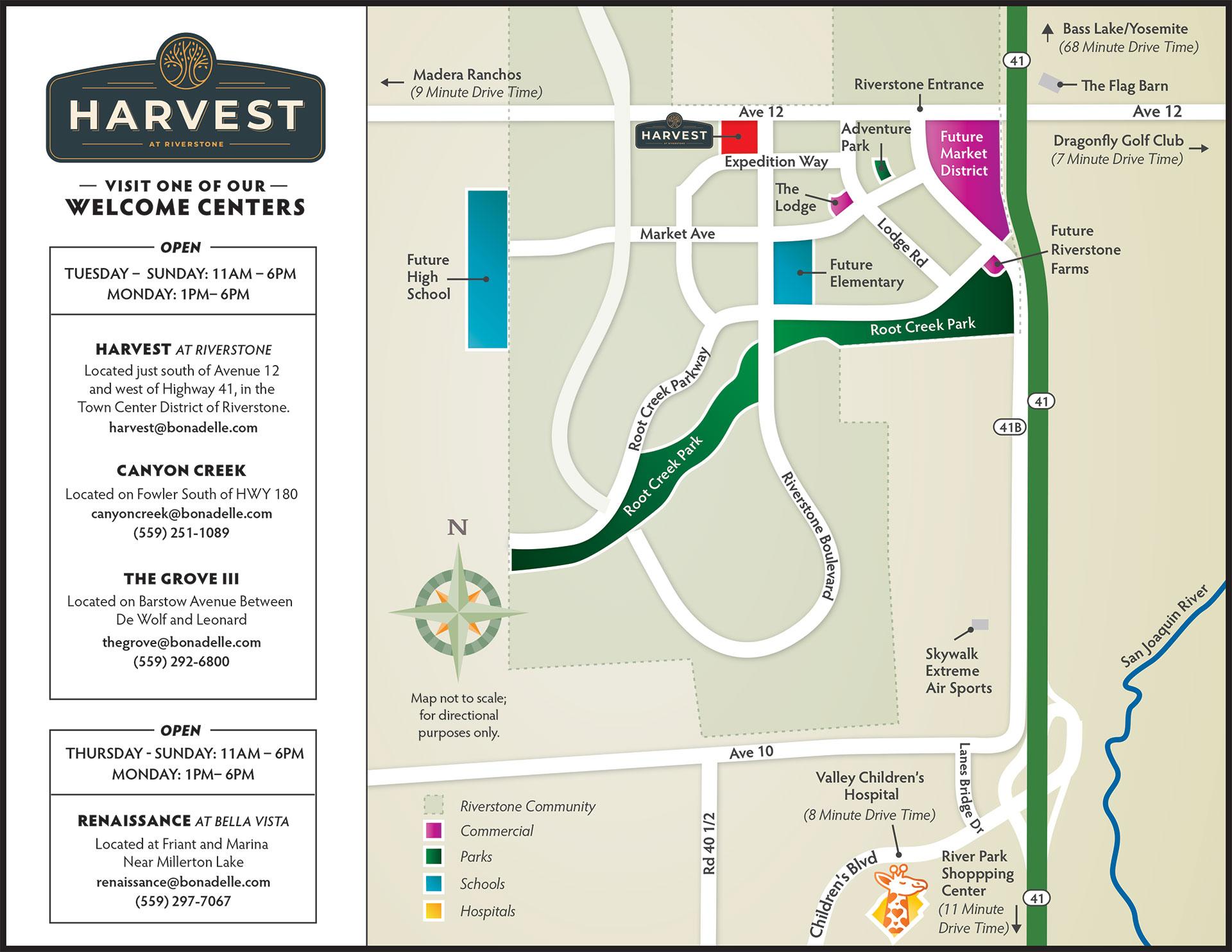 Harvest Bonadelle Map
