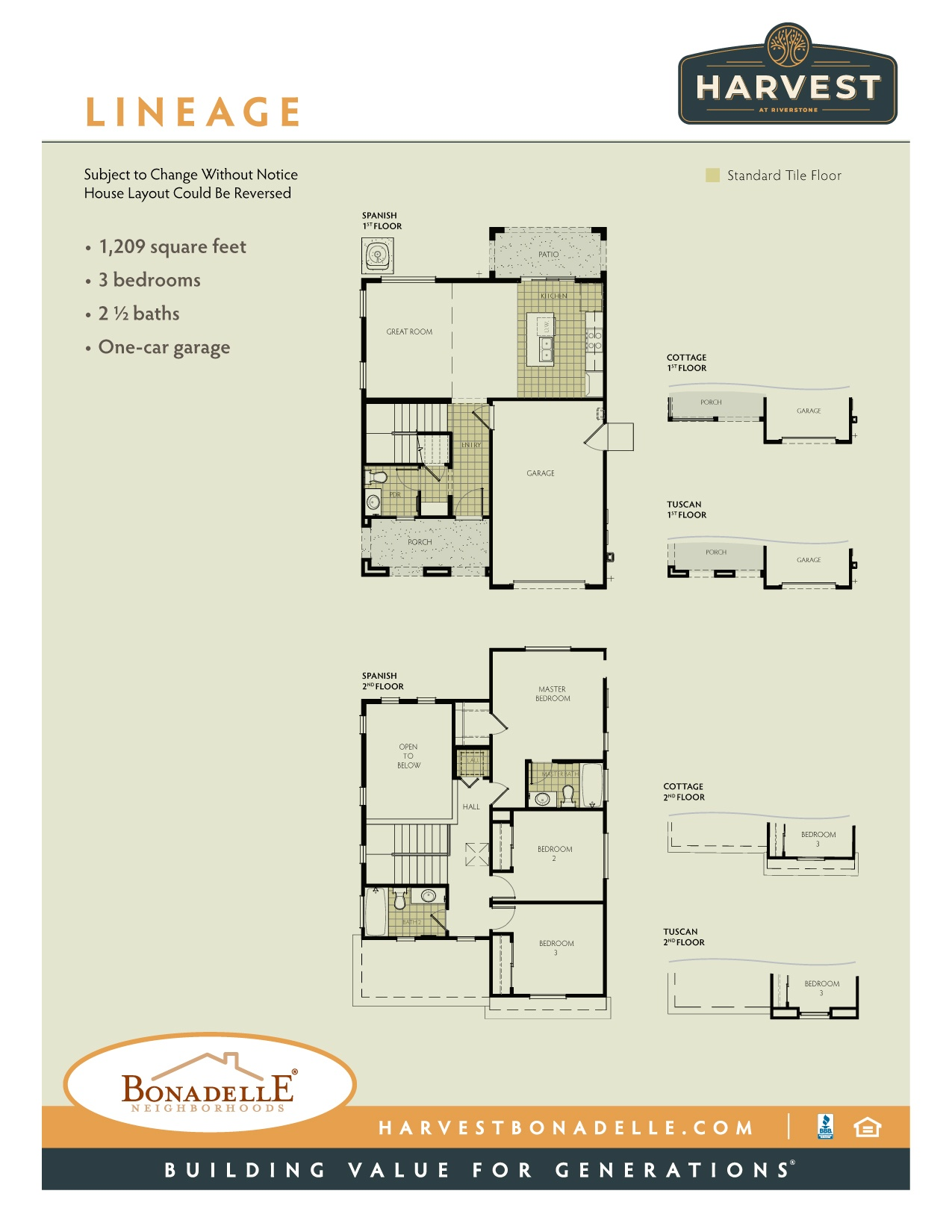 Lineage floor plan