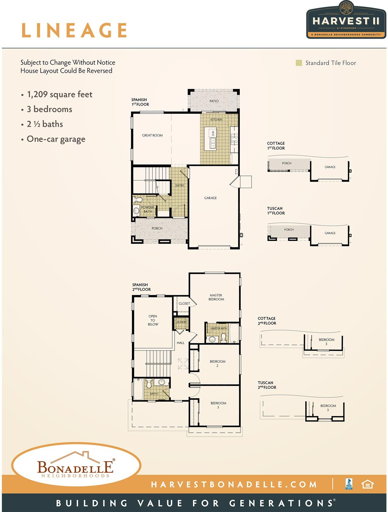 Harvest at Riverstone: Lineage Floor Plan